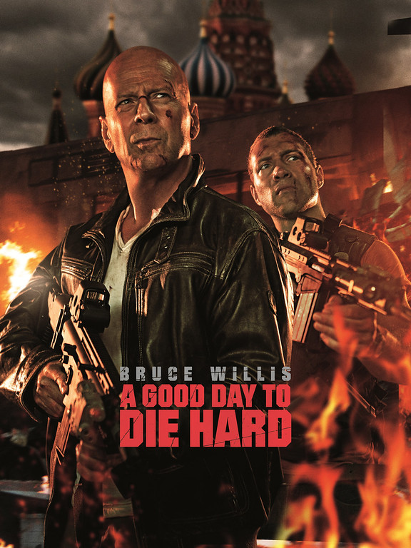 """. \""""A Good Day to Die Hard\"""" movie starring Bruce Willis as New York City Detective John McClane is released on January 31, 2013."""