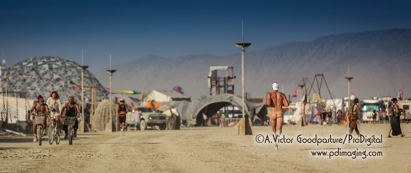 Full moon on the playa . . . and nobody notices.