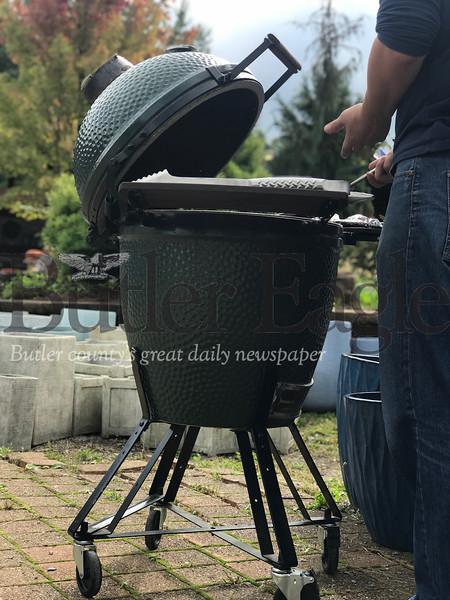 Grilling at Allgreen Eggfest September 29, 2018