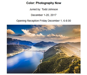 "05.12.2017 - ""Color: Photography Now"" exhibition at Black Box Gallery"