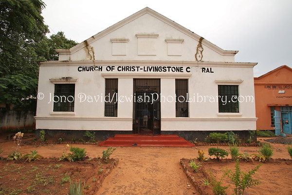 ZAMBIA, Livingstone. Livingstone Synagogue, school, social hall, and mikvah (2.2013)