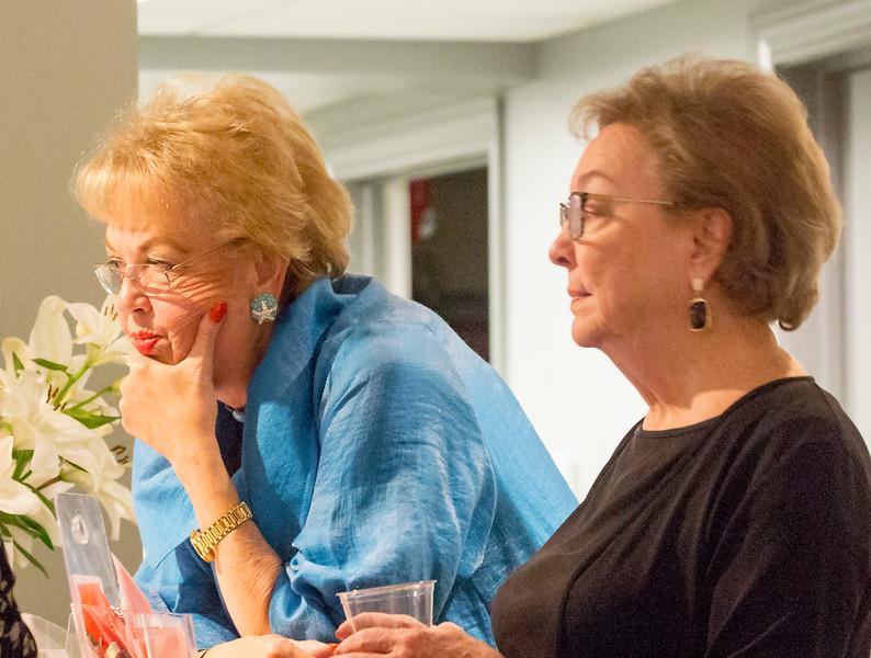 Deep in conversation: Barbara Moore and Sarah Lu Burrowes