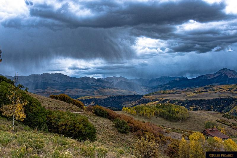 Cloudburst over the San Juan Mountains