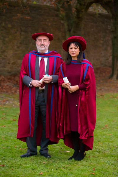 02/11/2017. Waterford Institute of Technology Conferring are Wei Tan and Christopher Mac Auliffe who were conferred a PhD.  Picture: Patrick Browne.. Picture: Patrick Browne.