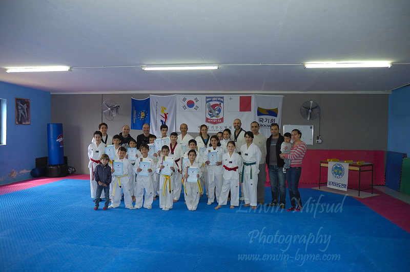 Taekwodo Dragon Club Grading - March 2015