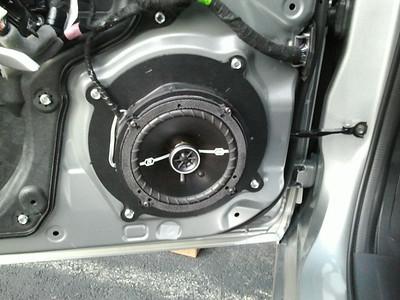 2014 Mazda 3i Touring hatchback Front Speaker Installation - USA