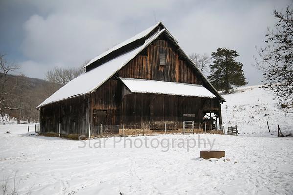 Snowy Barn Judge Ben Allen Road 02-19-15