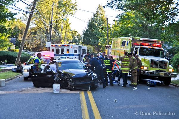 9-23-12 Ridgewood, NJ Motor Vehicle Accident: Van Emburgh Avenue & Allison Court