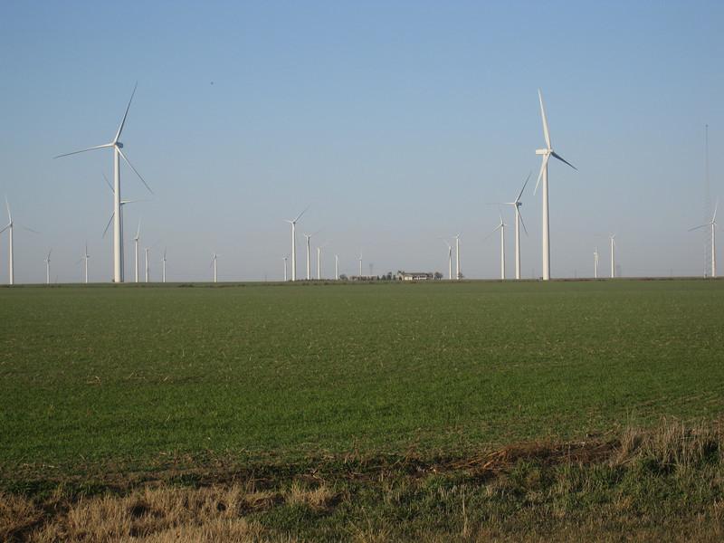 Wind power farm near Spearville, KS