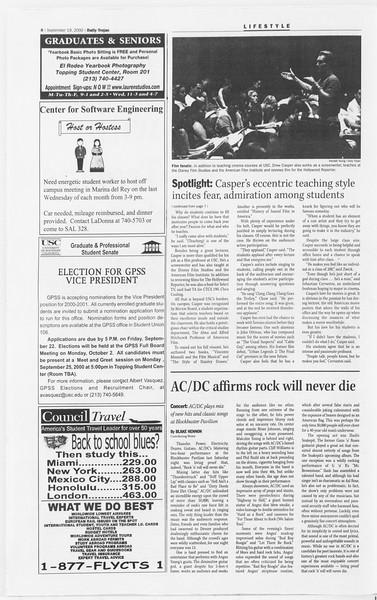 Daily Trojan, Vol. 141, No. 15, September 19, 2000