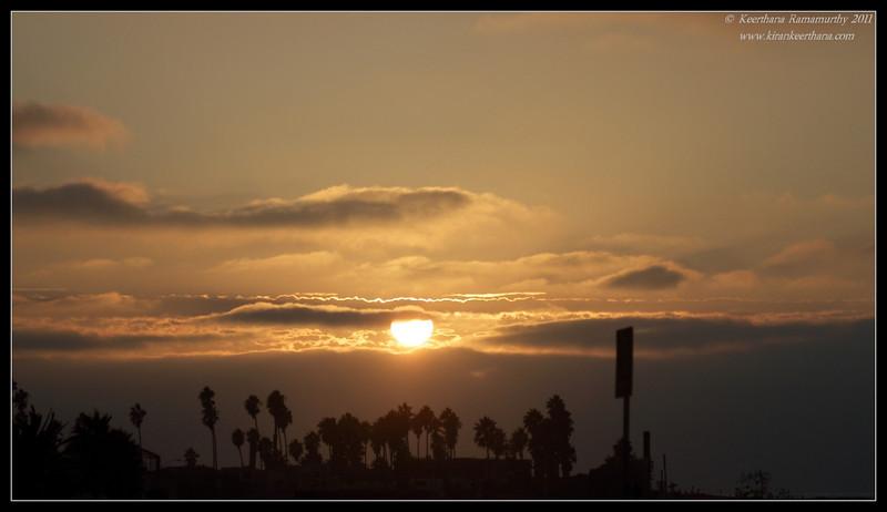 Sunset at Dog Beach, Robb Field, San Diego River, San Diego County, California, October 2011