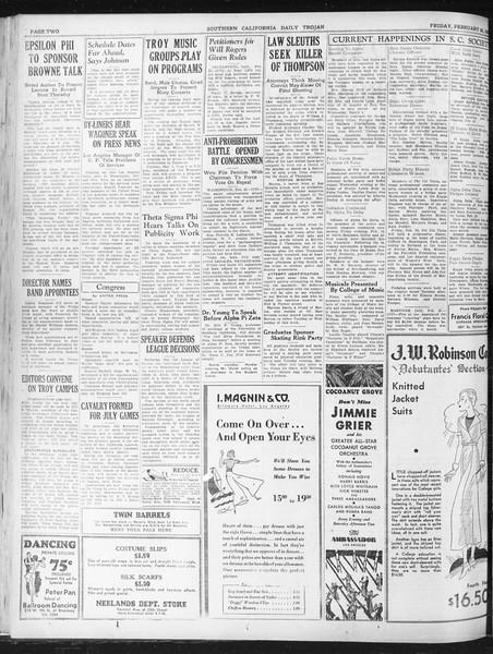 Daily Trojan, Vol. 23, No. 96, February 26, 1932