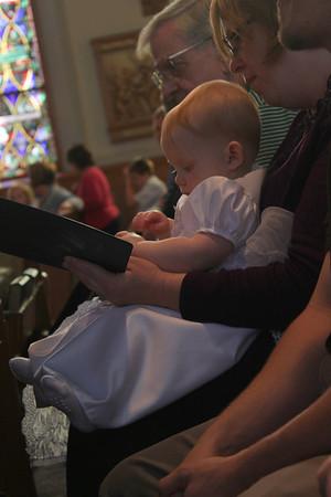 Addison Mae Daniel - Baptism at Holy Name