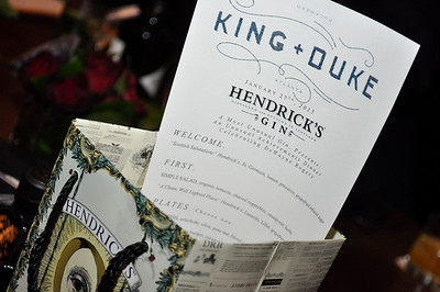Unusual Hendrick's Gin Dinner