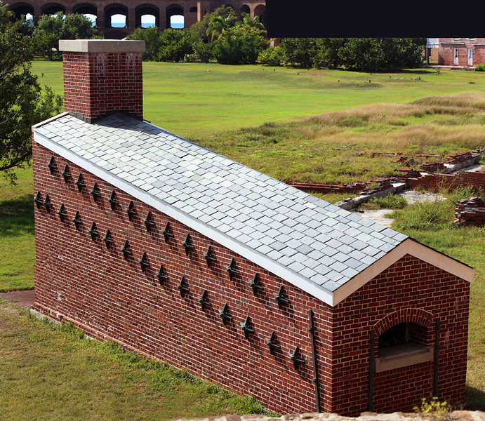Fort Jefferson's hot shot oven