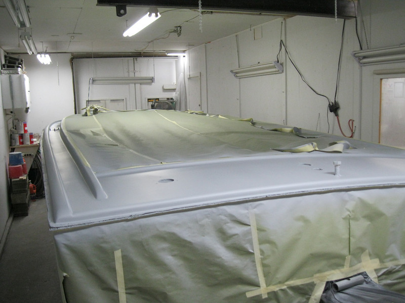 Port rear with primer applied.