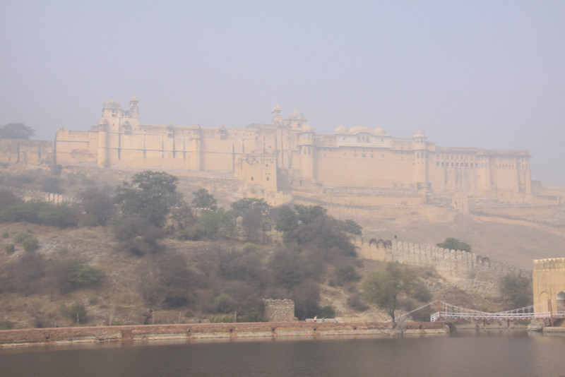 fogged out Amber Fort