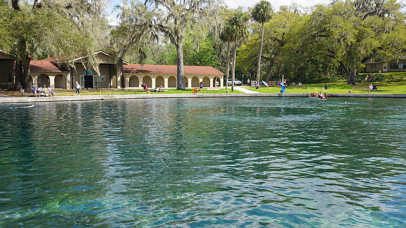 Swimming area in the spring