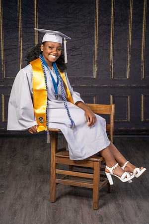 Jamese cap and gown