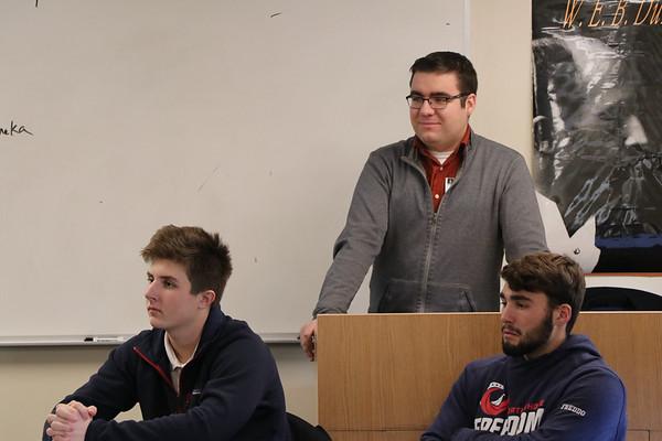 Dan Howlett '13 visits Charlie Newhall's Class