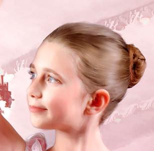 Digitally Painted Ballerina