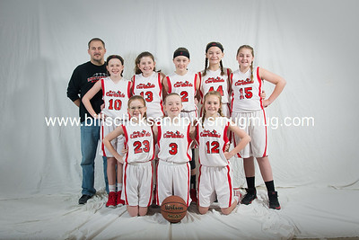 Kingston Springs Lady Cardinals 6th Grade Girls Team Pictures