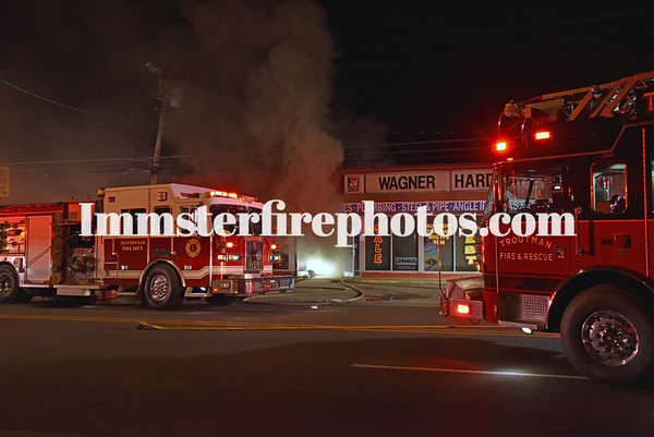 STATESVILLE FIRE DEPARTMENT BUILDING FIRE 3-9-2021  CRAZY DAVID'S SHELTON AVE