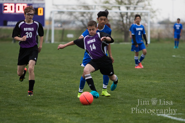 CCS JH Boys Soccer vs. Roosevelt, March 29