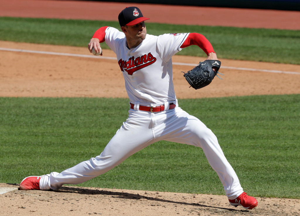 . Cleveland Indians starting pitcher Corey Kluber delivers in the sixth inning of a baseball game against the Kansas City Royals, Wednesday, Sept. 5, 2018, in Cleveland. Kluber pithed 6 2/3 innings and gave up two hits and one run. (AP Photo/Tony Dejak)