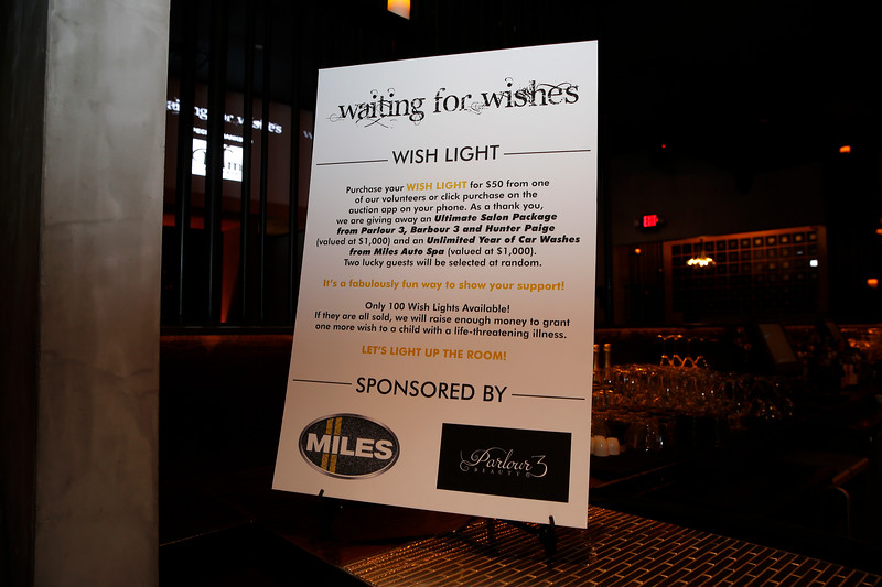 Waiting for Wishes Celebrity Waiters Dinner Sponsor Reception on April 17, 2017.  Photos by Donn Jones Photography.  Media Relations / Event produced by LEGACY Consulting, PR & Events.  #WFW2017