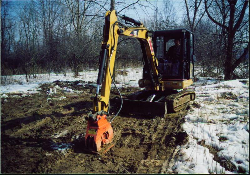 NPK C2D compactor on Cat mini excavator (11).JPG