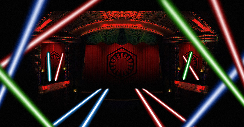 STAR WARS #TheForceAwakens at El Capitan Theater promises laser curtain show, costumes & props