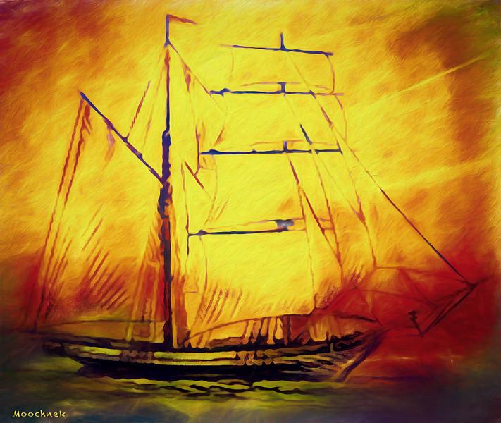 Sunreise on the high seas...