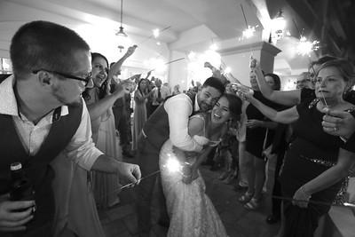 Amanda & Cory sparklers