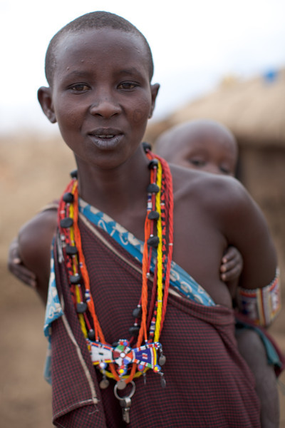 Maasai mother and child.