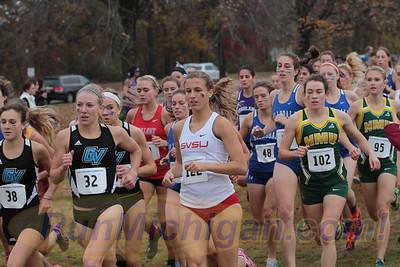 Womens 6K @ 300m - 2015 GLIAC XC Championships