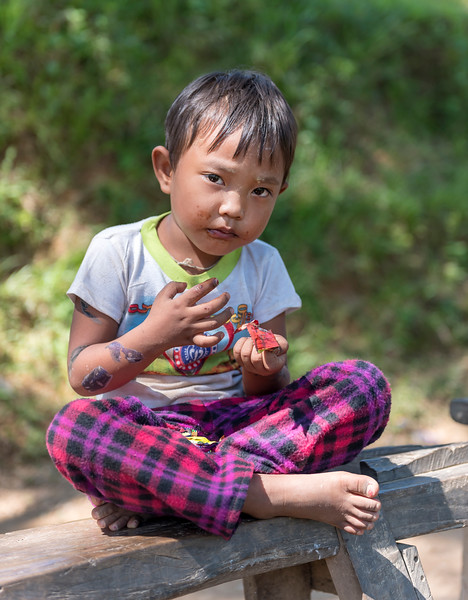 Child Portrait, Mrauk U, Burma
