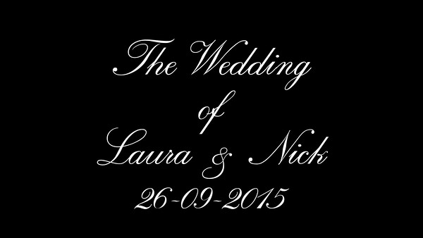 Nick & Laura wedding