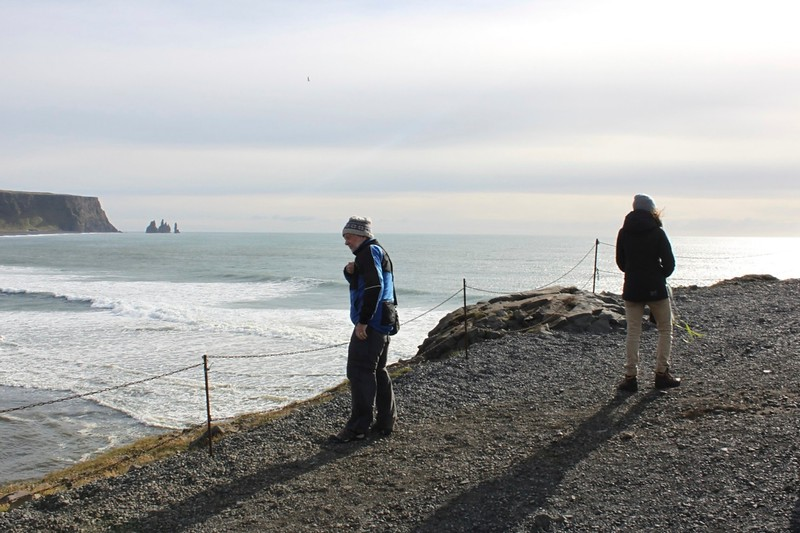 Tim checking for puffins at Reynisfjara - photo by Ron R.