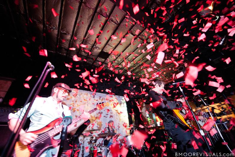 OK Go perform on May 14, 2010 at Crowbar in Ybor City, Tampa, Florida