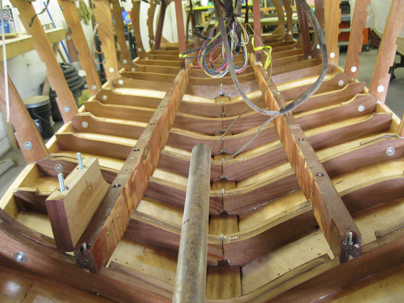Inside view of new frames and bottom.