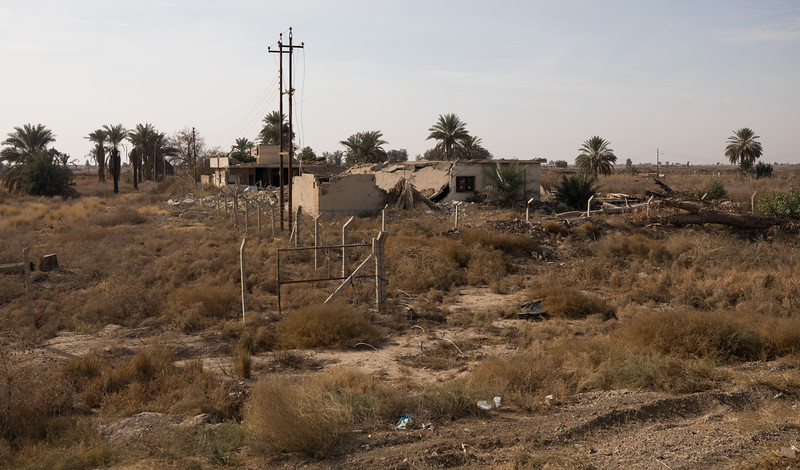 Buildings destroyed during the fight against ISIS north of Baghdad.