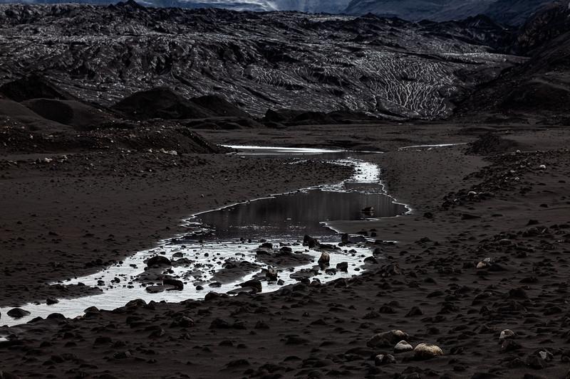 Ash Covered Glacier