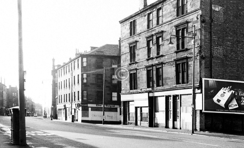 Gallowgate, south side, looking east from Sydney St.    May 1974