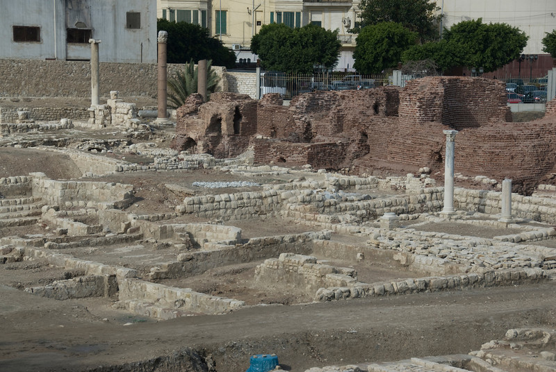 Ruins at the Roman Theater - Alexandria, Egypt