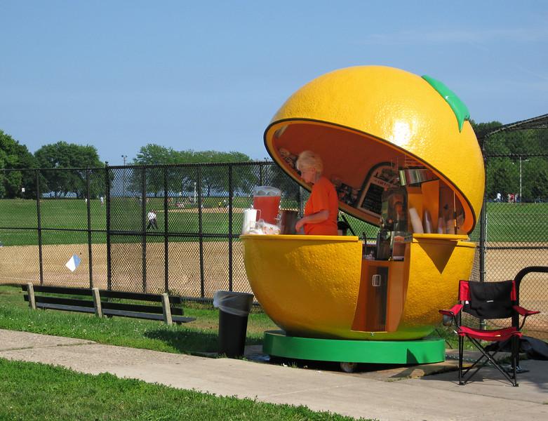 The Polish orange juice ladies on Chicago's lakefront bicycle trail.