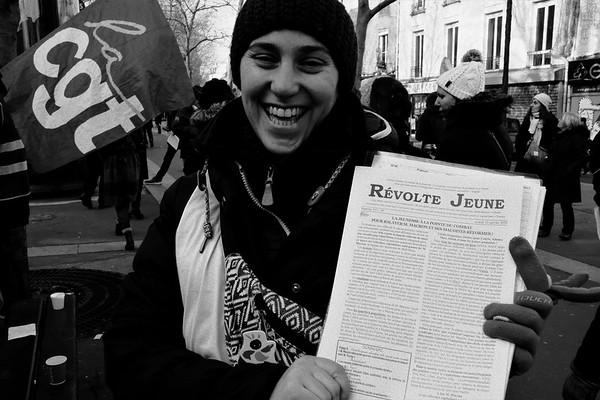 Manifestation du 24 janvier 2020 (N&B)