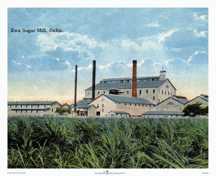247: 'Ewa Sugar Mill, Oahu' Postcard, Ca 1923.
