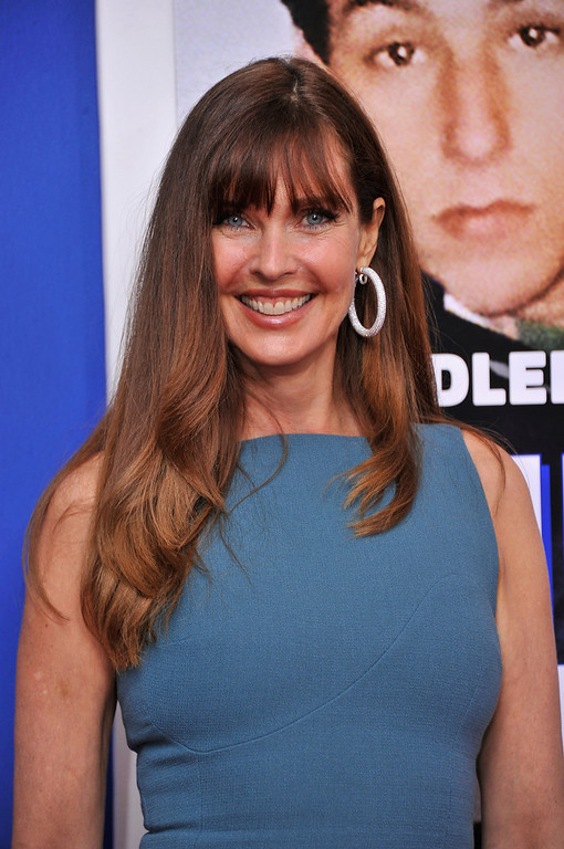 """. Model Carol Alt attends the \""""Grown Ups 2\"""" New York Premiere at AMC Lincoln Square Theater on July 10, 2013 in New York City.  (Photo by Stephen Lovekin/Getty Images)"""