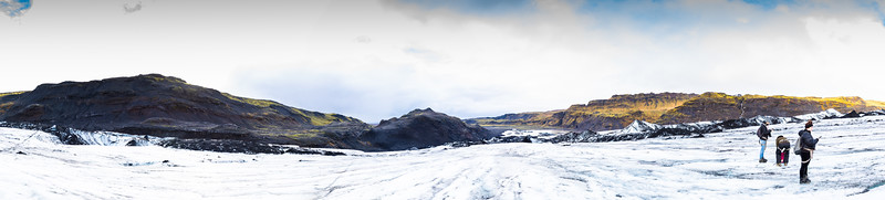Glacier walk on the south coast of Iceland